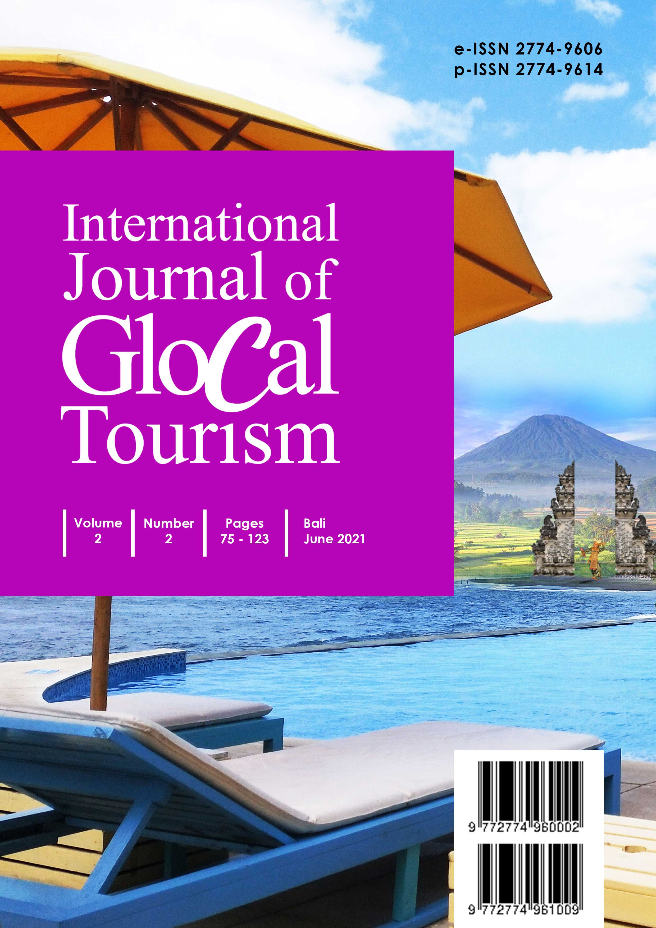 View Vol. 2 No. 2 (2021): International Journal of Glocal Tourism - June 2021